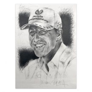 Kunstwerk Michael Schumacher Porträt #0050