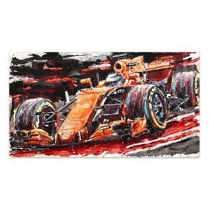 Kunstwerk Fernando Alonso 2017 #0055