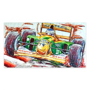 Œuvre d'art Michael Schumacher Benetton #0061