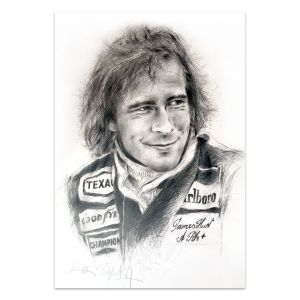 Obra de arte James Hunt Retrato #0064
