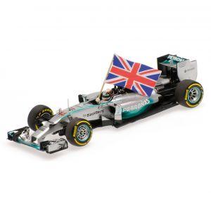 Lewis Hamilton Mercedes-AMG F1 W05 Gewinner Abu Dhabi GP, Weltmeister 2014 1:43
