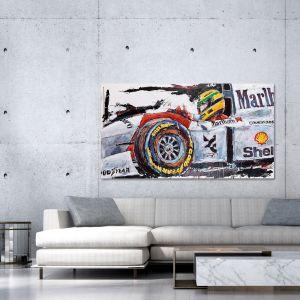 Kunstwerk Ayrton Senna McLaren Cockpit #0002