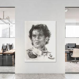 Obra de arte Ayrton Senna Retrato #0005
