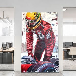 Obra de arte Ayrton Senna Salida del vehículo #0009
