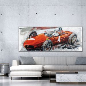 Artwork Phil Hill Longnose Ferrari #0030