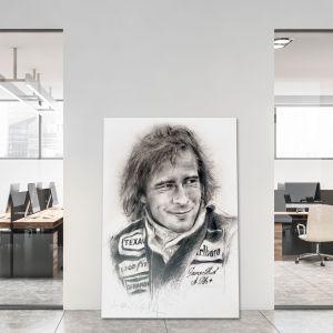 Kunstwerk James Hunt Porträt #0064