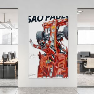 Obra de arte Kimi Räikkönen Campeón del mundo 2007 #0021