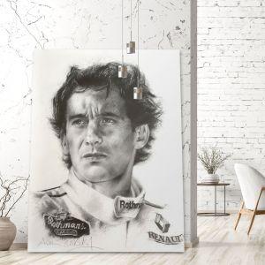 Kunstwerk Gilles Villeneuve Porträt #0022