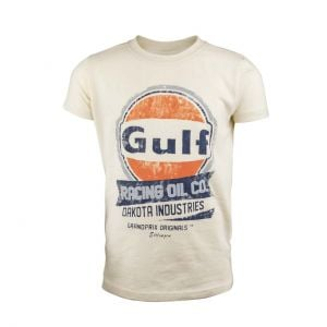 Gulf Niños Camiseta Oil Racing crema