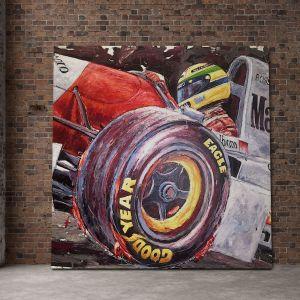 Obra de arte Ayrton Senna McLaren #0006