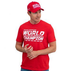 T-Shirt Campione del mondo Michael Schumacher rossa