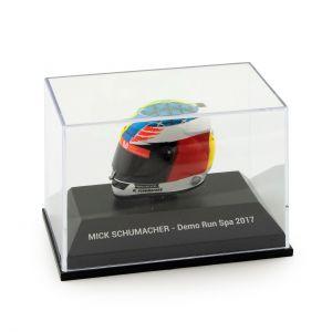Mick Schumacher casco miniatura Belgio GP 2017 1/8