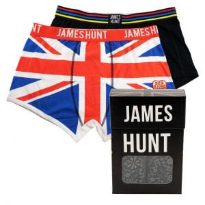James Hunt Boxer shorts Helmet + Union Jack Double Pack