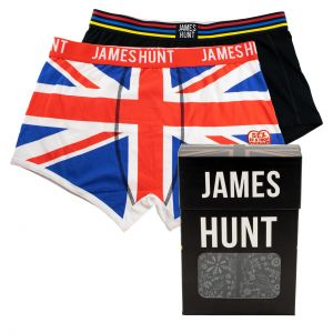 James Hunt Boxershorts Helmet + Union Jack Doppelpack