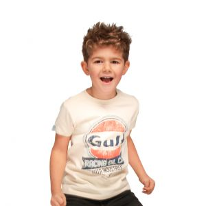Gulf Kids T-Shirt Oil Racing cream