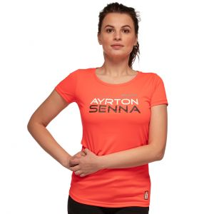 Ayrton Senna T-Shirt Damen Three Times World Champion McLaren