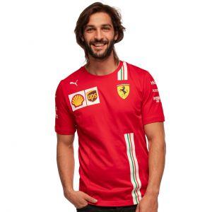Scuderia Ferrari Team Maglietta da uomo Rossa