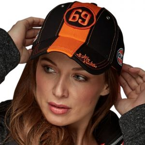 Gulf Cap Black & Orange 69