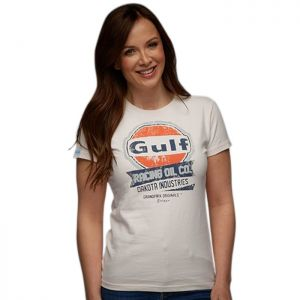 Gulf T-Shirt Oil Racing Lady cream
