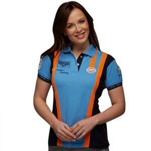 Gulf Poloshirt Racing Team Lady cobalt