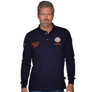 Gulf Polo long Corkscrew bleu marine
