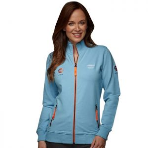 Gulf Dames Sweatjacket Smart Racing bleu Gulf