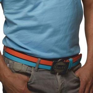 Gulf Leather belt blue/orange