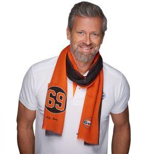 Gulf Scarf 69 Black & Orange