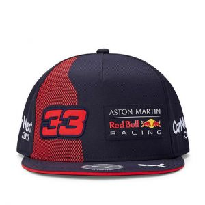 Red Bull Racing Fahrer Kinder Cap Verstappen Flat Brim marineblau