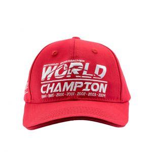 Cappellino bambini World Champion Michael Schumacher rosso