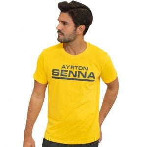 Ayrton Senna T-Shirt Racing Signature