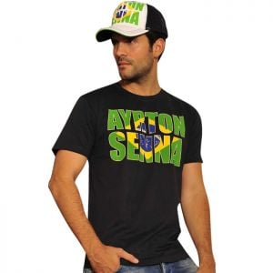 Camiseta azul marino Ayrton Senna Brasil