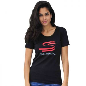 Ayrton Senna Ladies T-Shirt Senna Black