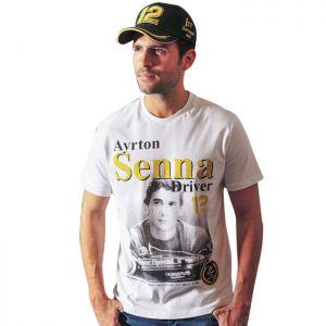 Camiseta Ayrton Senna 1a victoria 1985