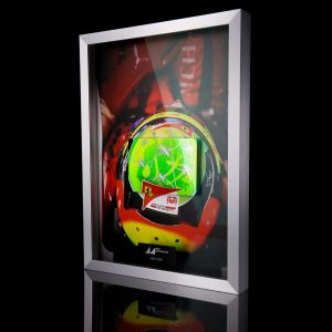 Mick Schumacher 2020 Photo avec casque en carbone peint à la main 2020