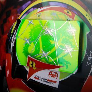 Mick Schumacher 2020 Immagine con elmetto in carbonio dipinto a mano 2020