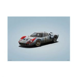 Cartel Ford GT40 - Blue - 24h Le Mans - 1966 - Colors of Speed
