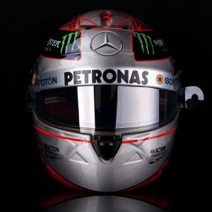 Michael Schumacher Replica Platinum Helmet 1/1 Spa 300th GP 2012