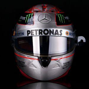 Michael Schumacher Replika Platin-Helm 1:1 Spa 300th GP 2012