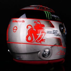 Michael Schumacher Réplique du Casque Platinum 1/1 Spa 300e GP 2012