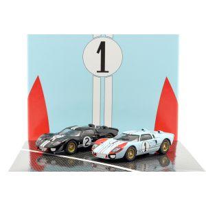 2-Car Set Ford GT40 MK II #2 #1 Gagnant et 2ème place 24h LeMans 1966 1/43
