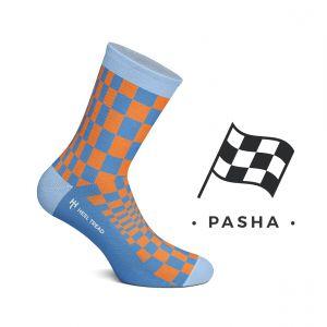 Pasha Calcetines naranja/azul