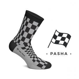 Pascha Socken schwarz/grau