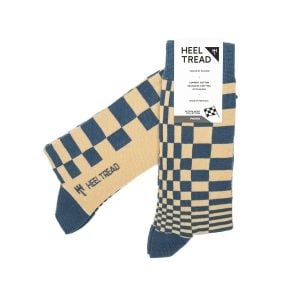 Pasha Socks navy/tan
