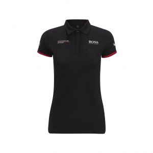 Porsche Motorsport Poloshirt Damen schwarz