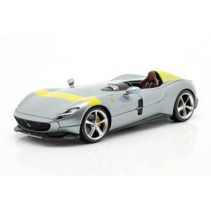 Ferrari Monza SP1 Année de fabrication 2019 gris métallisé / jaune 1/18