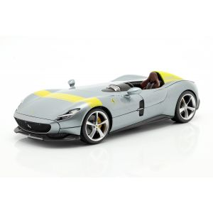 Ferrari Monza SP1 Año de fabricación 2019 gris metálico / amarillo 1/18