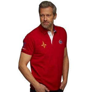 Gulf Rugby Polo rouge