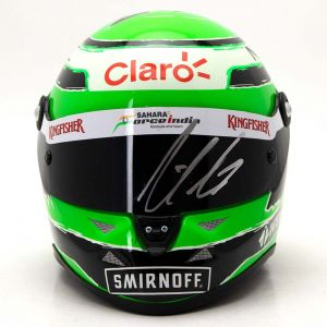 Nico Hülkenberg miniature helmet 2016 signed 1/2