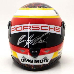 Timo Bernhard casco miniatura 2015 firmado 1/2